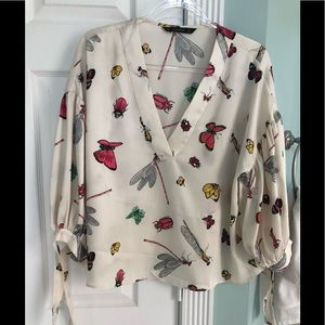 ZARA Insect Print Blouse